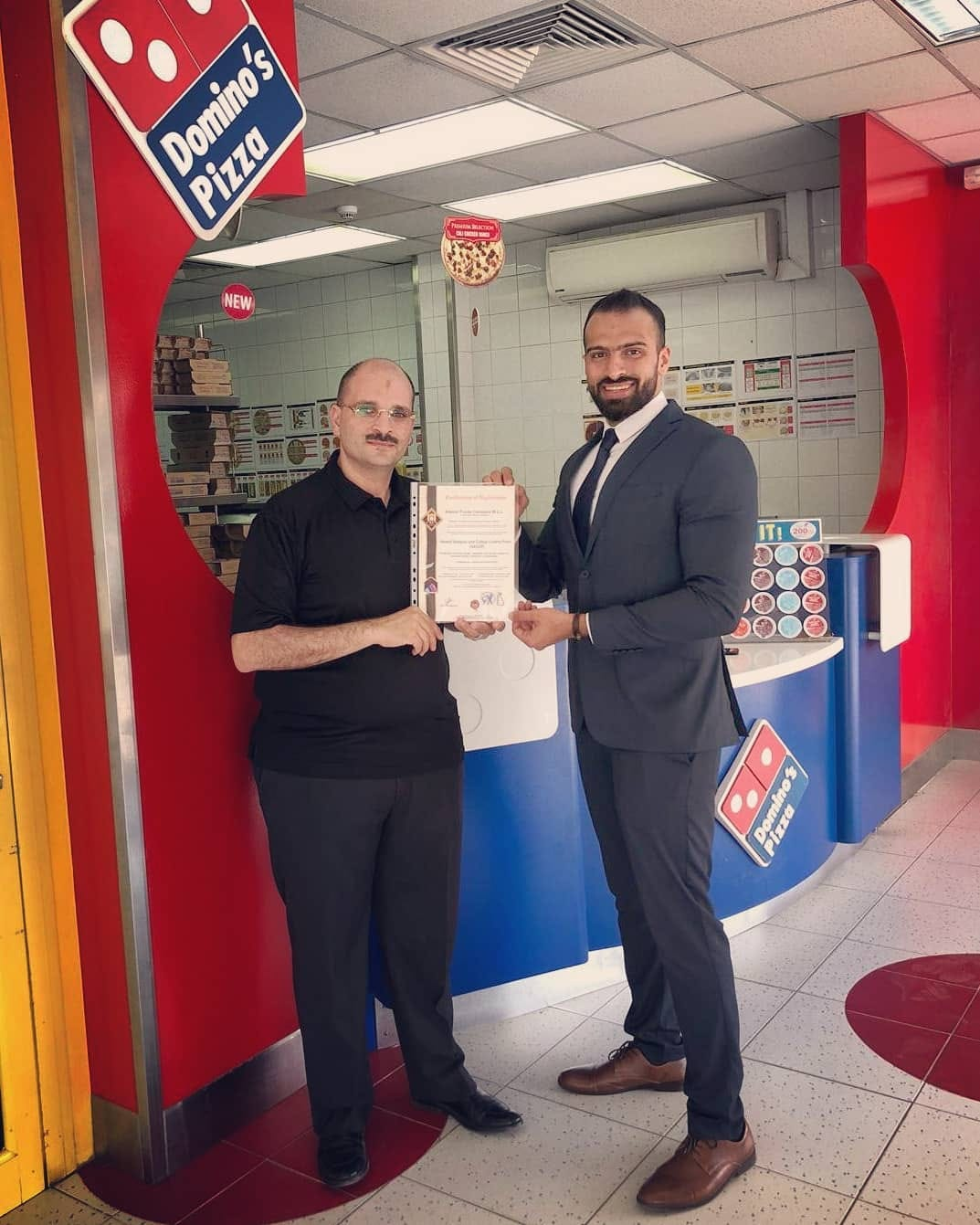 Domino S Pizza Awarded Haccp Food Safety Certificate H A