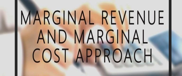 Marginal Revenue and Marginal Cost
